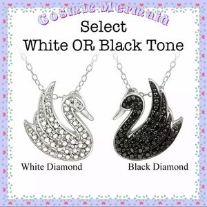 Jewelry - 🆕💎Swan Diamond Accent Necklace💎Black OR White